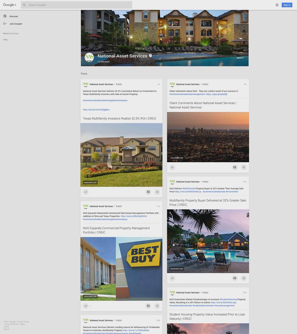 NAS Google Plus Page