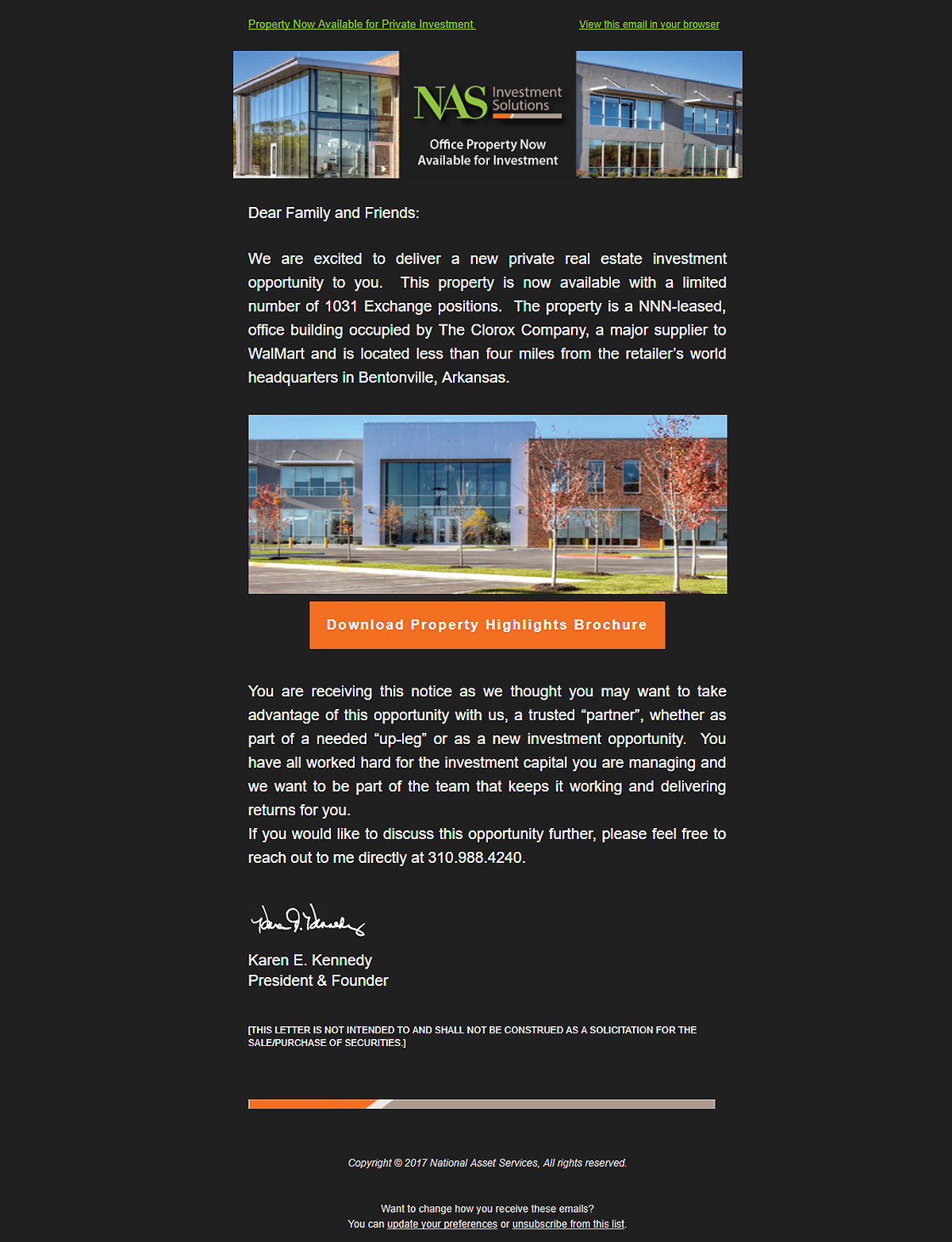 NASIS Email Marketing Campaign