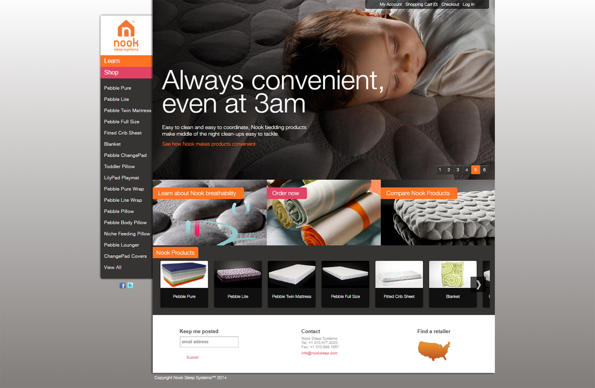 Nook Sleep E-commerce Design
