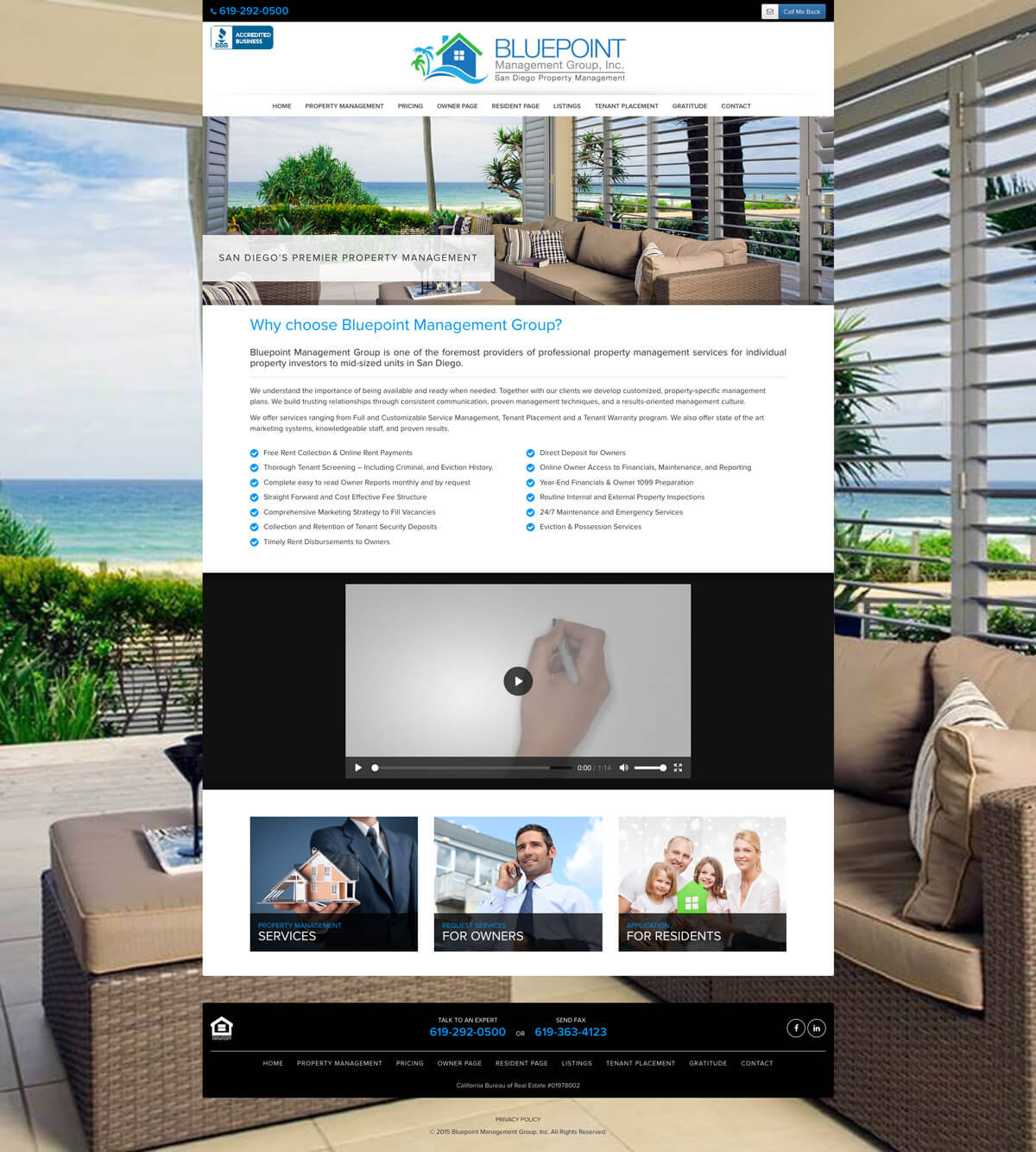Bluepoint Management Website